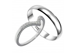 Elfi 925 Genuine Silver Couple Ring C326