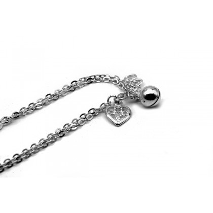 Elfi 925 Genuine Silver Hearts of Five Bracelet SB-95M
