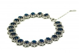 Elfi 925 Genuine White Gold Secrets Of Jasmine Bracelet WGB-25 Blue