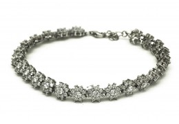 Elfi 925 Genuine White Gold Flowers of Eden Bracelet WGB-24