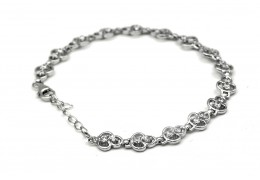 Elfi 925 Genuine White Gold Evening Breeze Bracelet WGB-32