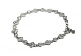 Elfi 925 Genuine White Gold Forbidden Lake Bracelet WGB-33