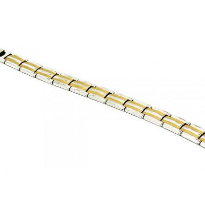 : Elfi Stainless Steel Magnetic Energy Health Bracelet 17