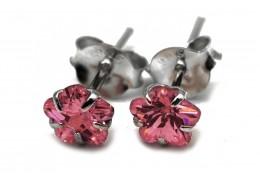 Elfi 925 Genuine Floral Life Earrings SE101 (Pink)