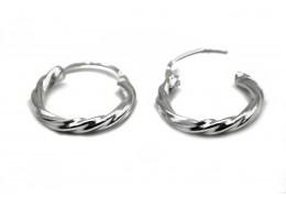 Elfi 925 Genuine Silver River Flow Earrings SE97