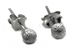 Elfi 925 Genuine SIlver Snow Balls Earrings SE99