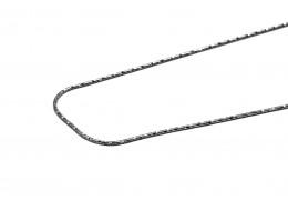Elfi Genuine 925 Silver Snake 04 Necklace-45cm