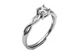 Elfi 925 Genuine Silver Adjustable Engagement Ring SGR142 (A)– Wrixty
