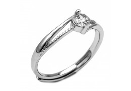 Elfi 925 Genuine Silver Adjustable Engagement Ring SGR143(A)– Hiputi
