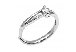 Elfi 925 Genuine Silver Adjustable Engagement Ring SGR145(A)– Lomofi