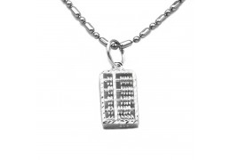 Elfi 925 Sterling Silver Abacus Pendant SP116(S)