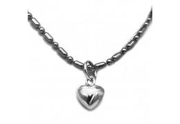 Elfi 925 Sterling Silver Heart Pendant SP117(S)