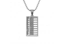 Elfi Silver Stainless Steel Abacus Pendant