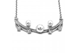 Elfi 925 Genuine White Gold Silver Necklace – Pearls of  Athena SGN106