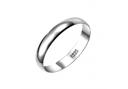 Elfi 925 Genuine Silver Plain Unisex Ring P7 - The Classic