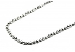 Elfi 925 Genuine Silver Necklace Textured Bead Chain
