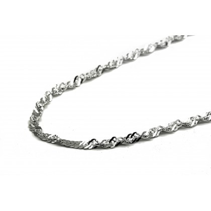 Elfi 925 Genuine Silver Necklace Water Wave Chain 3mm