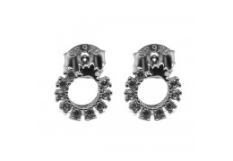 Elfi Genuine White Gold Silver Stud Earrings SGE23 – Circle of Eden