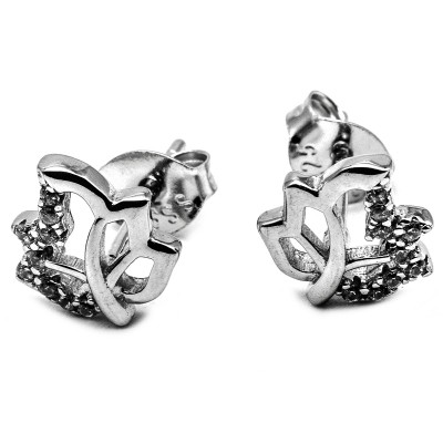 Elfi Genuine White Gold Silver Stud Earrings SGE25 – Autumn
