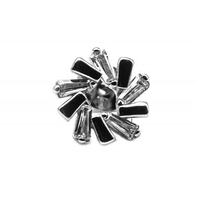 Elfi Genuine White Gold Silver Stud Earrings SGE26 – Winter Fall