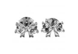 Elfi Genuine White Gold Silver Stud Earrings SGE27 – Life Ribbon