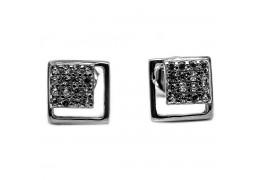 Elfi Genuine White Gold Silver Stud Earrings SGE29 – Eonia Eternity