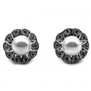 Elfi Genuine White Gold Silver Stud Earrings SGE31 – Pearl of Atlantis