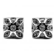 Elfi Genuine White Gold Silver Stud Earrings SGE34 - Fortitudo