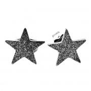 Elfi Stainless Steel Silver Star Stud Earrings
