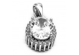 Elfi 925 Sterling Silver Pendant Diamond of Azeroth SP113