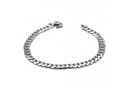 Elfi Genuine Solid 925 Silver Curb 8g Bangle Bracelet
