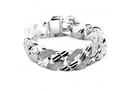 Elfi Genuine Solid 925 Silver Curb 04 180g Bangle Bracelet