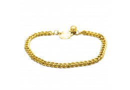 Elfi 916 Korean Gold 24K Plated Chain of Trust Bracelet GPB-18
