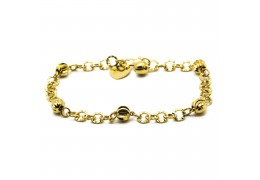 Elfi 916 Korean Gold 24K Plated Cradle Of Life Bracelet GPB-22