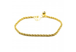 Elfi 916 Korean Gold 24K Plated Double Twisted Gold Bracelet GPB-23