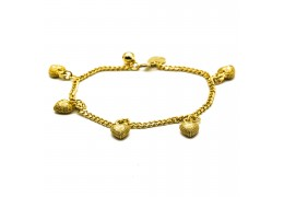 Elfi 916 Korean Gold 24K Plated Hearts of Lion Bracelet GPB-24