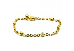 Elfi 916 Korean Gold 24K Plated Zen Circle Gold Bracelet GPB-25