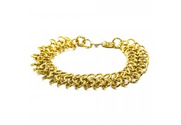 Elfi 916 Korean Gold 24K Plated Triple Ripple of Mystery Bracelet GPB-28