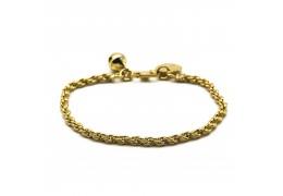 Elfi Triple Knots Gold Plated Bracelet for Baby GBB-2