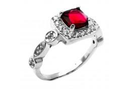 Elfi 925 Genuine Silver Ring P8(R) - Agrata (Red)