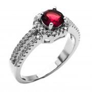 Elfi 925 Genuine Silver Ring P12(R) - Akshita (Red)