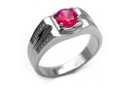 Elfi 925 Genuine Silver Engagement Ring R18(R) - The Red Knight