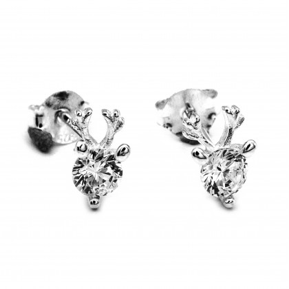 Elfi 925 Genuine Antlers Stud Earrings SE113
