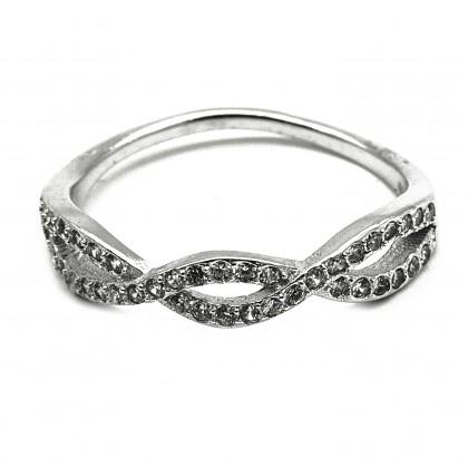 Elfi 925 Genuine Silver Engagement Ring D16 – The Treasure of Infinity