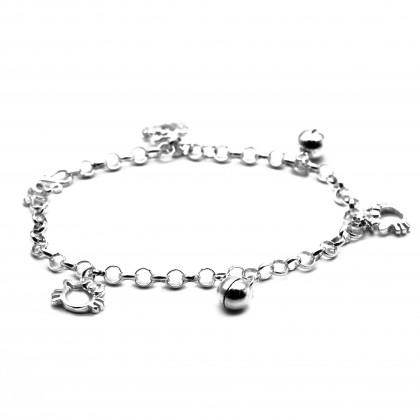 Elfi 925 Genuine Silver Anklet with Bracelet AWB1
