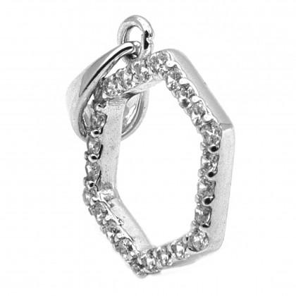 Elfi 925 Genuine Silver Rectangle Pendant SP170