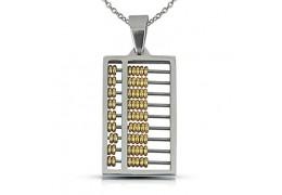 Elfi Stainless Steel Abacus Pendant