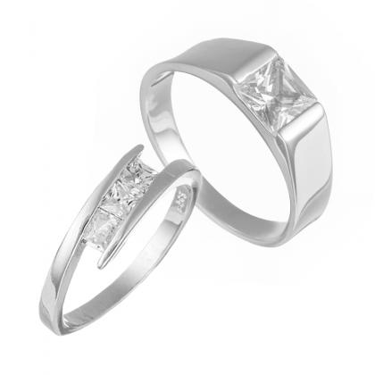 Elfi 925 Genuine Silver Couple Ring C67