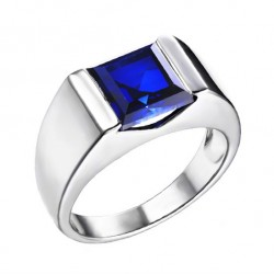 Elfi 925 Genuine Silver Engagement Ring R30 - The Blue Spectrum