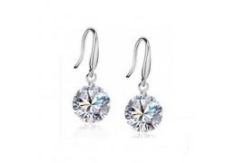 Elfi 925 Sterling Silver Diamond Drop Earrings SE5